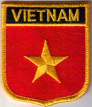 Vietnam Embroidered Flag Patch, style 07.